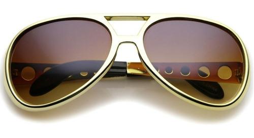 922b56297 Óculos Do Elvis Presley Dourado Retro Fantasia Festa Anos 60