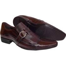 Sapato Masculino Couro Envernizado Stilo Agabe Ferracini