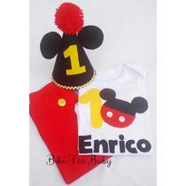 Fantasia Infantil Smash Cake Mickey 1 Aninho Completo