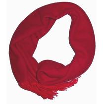 Cachecol Masculino Vermelho Echarpe Lenço Acessório