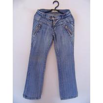 Calca Feminina Jeans Detalhe Zíper Cód. 692