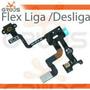 Placa Flex Flat Botão Power Sensor De Proximidade Iphone 4s