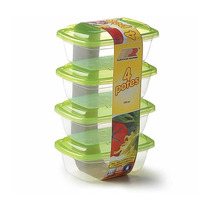 Tupperware Tapoer 4 Potes - Organize Sua Cozinha