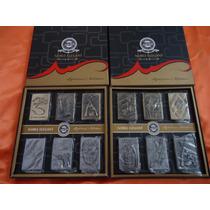 Kit Caixa Com 6 Isqueiros Metal Fluído Tabacaria Coleção