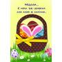 Cartão Fina Idéia Sazonal Páscoa -coelho Com Coração