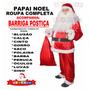 Roupa De Papai Noel Xgg Completa C/ Barrigão + Frete Grátis