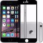 Película Vidro Anti Queda Temperado Preta Iphone 6 Plus