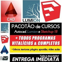 Pacote Cursos Autocad Civil 3d + Sketchup, Lumion, Materiais