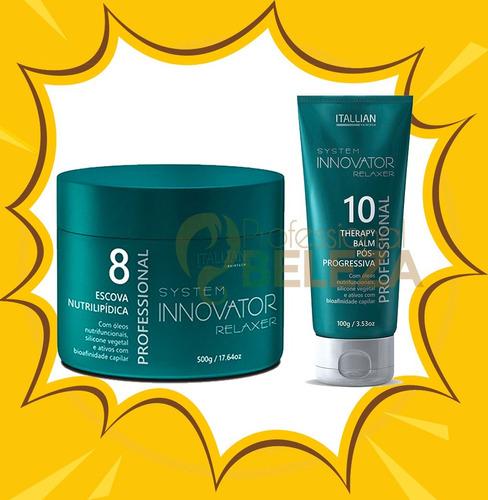 df07e23d7 Escova Nutrilipidica Innovator + Therapy Balm Itallian