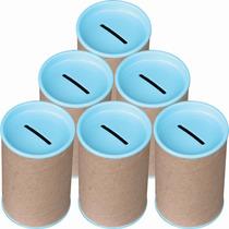 50 Cofrinhos De Papelão 6x10 - Tampa Verde Bebe