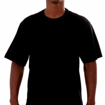 Camisa Camiseta Lisa S. Estampa 100% Algodão Preta Ou Branca