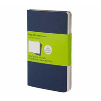 Caderno Moleskine Cahier Kit C/3 S/ Pauta De Bolso Azul 1007