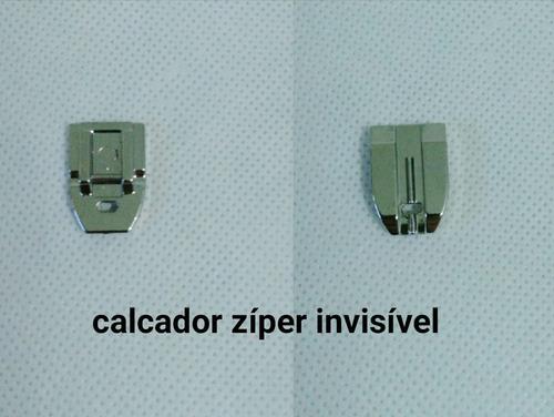Pé Calcador De Zíper Invisível Para Máquina Doméstica - R