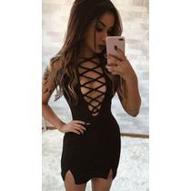 00c9459465e6 Promoção Vestido Curto Panicat Festa Preto Justo Balada à venda em ...