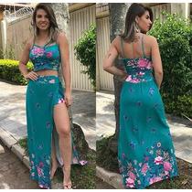 4cb60a6e6b Conjunto Saia Longa Shorts Por Baixo E Cropped Strappy à venda em ...