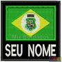 Bordado Termocolante- Bandeira Ceará Seu Nome Fp 8x7,5cm