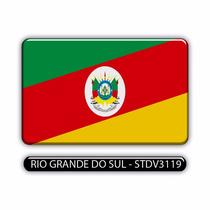 Adesivo Automotivo Bandeira Rio Grande Do Sul Resinado
