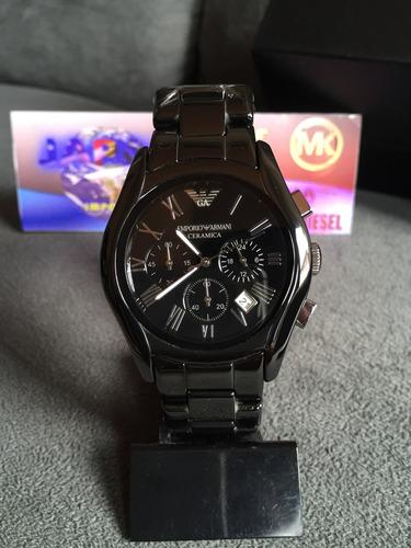 367bf605538 Relógio Emporio Armani Ar1400 Cerâmica Original 12x S  Juros