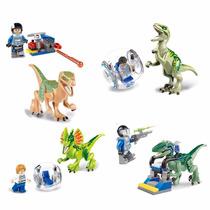 Lego Jurassic World 4 Personagens Do Parque + 4 Dinossauros