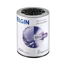 Midia Dvd-r Elgin Dual Layer 8,5gb 240 Min 8x Print Bulk