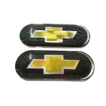 Par De Emblema Resinado Coluna Blackout Chevrolet