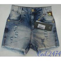 Short Feminino Jeans Oppnus Hot Pants Lycra Coleção