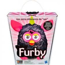 Furby Pelúcia Interativa Pretp E Rosa Lançamento Hasbro Ptbr