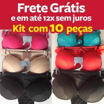 Kit Conjunto Lingerie Com Sutiã E Calcinha Soutien Com Renda