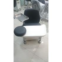 Cadeira Manicure Gavetas Haisan Inox Salão Beleza Cirandinha