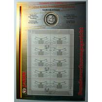 Folha Numismática Alemanha Comemorativa 10 Marcos De 2001