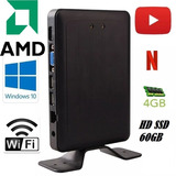 Mini Pc Computador Pequeno Amd Radeon 2.0ghz 4gb Hd 1tb+ssd