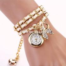 Relógio Borboleta Luxo Importado Pronta Entrega No Brasil