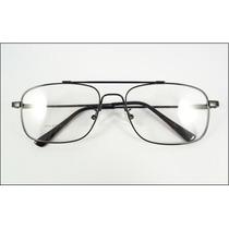 Armação Aviador De Titanium Óculos De Grau Preto - A571