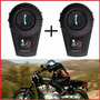 Intercomunicador 2 Par Capacete Moto Bluetooth Fone Gps Mp3