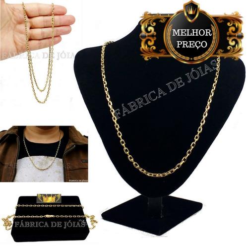 9b4aa2b6685 Cordão 20 Gramas Cadeado Cartier De Ouro 18k. R  3600