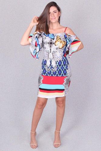 b2e4918008 Vestido Estampado Marca Padrão - Asya Fashion