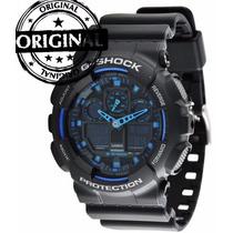 Relógio G-shock Ga-100 Az Mergulhos Profundos Frete Gratis