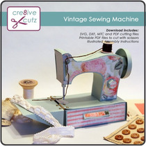 Kit Svg Cricut Silhouette Maquina Costura Roupa Vintage Linh