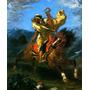 Cavaleiro Árabe Galopando Cavalo Delacroix Tela Repro
