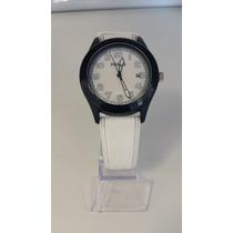 Relógio Fossil Branco Pulseira De Borracha Original Novo