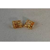 Rsp 149 Par De Topázio Imperial Dourado, 5,5 Ct