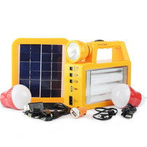 Sistema Portátil De Iluminação Com Placa Solar Para Camping