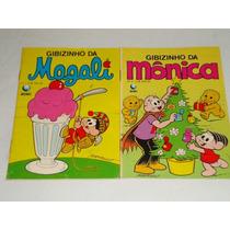 2 Gibizinhos Mônica Nº 5 E Magali Nº 3. Antigas. Ed. Globo