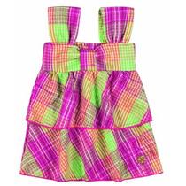 Vestido Infantil Menina Tricoline Xadrez Boca Grande Bg252