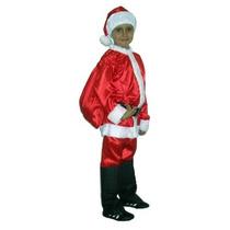 Roupa Fantasia De Papai Noel Infantil - Tamanho P