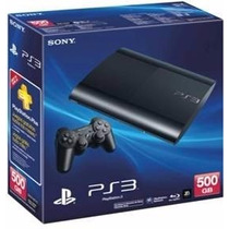 Playstation 3 Ps3 Super Slim Hd 500gb Na Caixa + Brinde