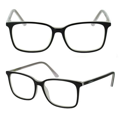 Armação Óculos Grau Feminino Original Quadrado Casual 8113 968f5fc7a4