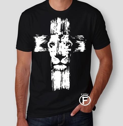 d470b0f4b2d0 Camiseta Evangélica Leão Tribo De Judá - Jesus - Cruz à venda em ...