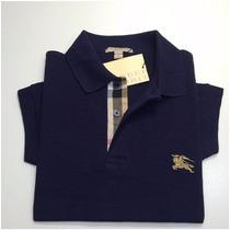 Camiseta Gola Polo Burberry / Tamanho G / Frete Grátis