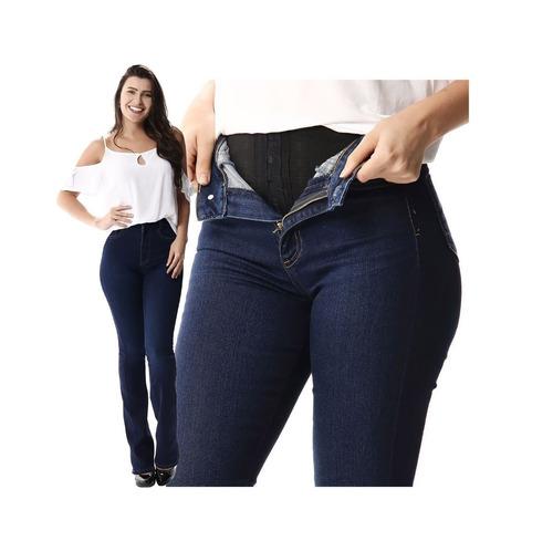 445fe5dbf9 Calça Jeans Feminina Flare Sawary Super Lipo Cintura Alta R$120 ...